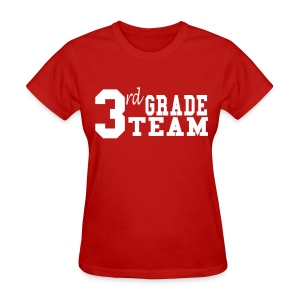 3rd Grade Team-Customize Back With Name  - Women's T-Shirt