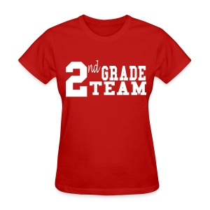 2nd Grade Team-Customize Back With Name  - Women's T-Shirt