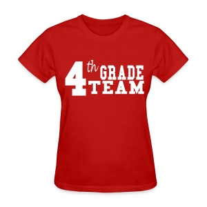 4th Grade Team-Customize Back With Name  - Women's T-Shirt