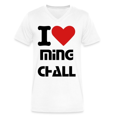 Men's I Heart MingChall V-Neck T-shirt - Men's V-Neck T-Shirt by Canvas