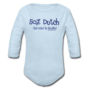 Bloodline - Dad (with blue lettering for lighter shirts) - Long Sleeve Baby Bodysuit