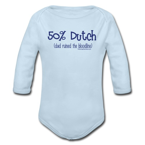 Bloodline - Dad (with blue lettering for lighter shirts) - Organic Long Sleeve Baby Bodysuit
