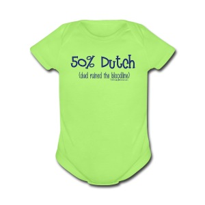 Bloodline - Dad (with blue lettering for lighter shirts) - Short Sleeve Baby Bodysuit