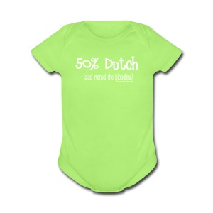 Bloodline - Dad (with white lettering for darker shirts) - Short Sleeve Baby Bodysuit