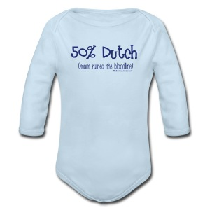 Bloodline - Mom (with blue lettering for lighter shirts) - Long Sleeve Baby Bodysuit