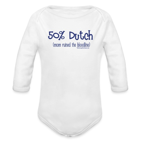 Bloodline - Mom (with blue lettering for lighter shirts) - Organic Long Sleeve Baby Bodysuit