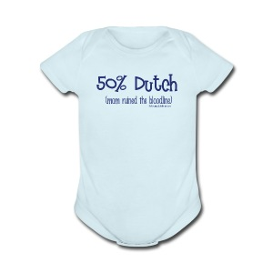 Bloodline - Mom (with blue lettering for lighter shirts) - Short Sleeve Baby Bodysuit