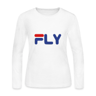Long Sleeve Shirts ~ Women's Long Sleeve Jersey T-Shirt ~ Fly Girls Womens Long Sleeve Shirt