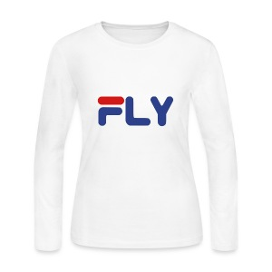 Fly Girls Womens Long Sleeve Shirt - Women's Long Sleeve Jersey T-Shirt