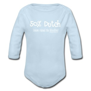 Bloodline - Mom (with white lettering for darker shirts) - Long Sleeve Baby Bodysuit