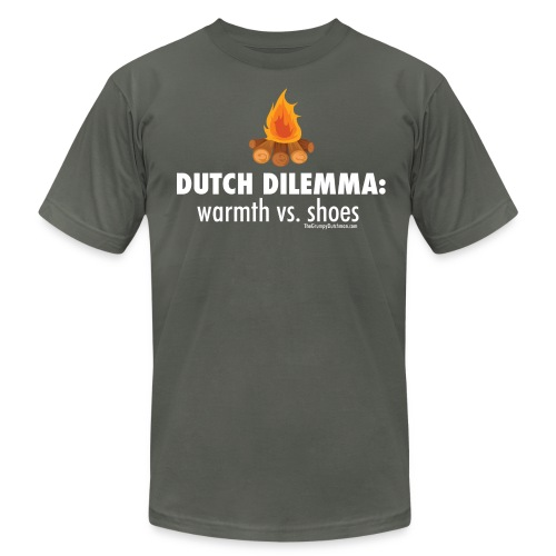 Dutch Dilemma (with white lettering for darker shirts) - Men's Fine Jersey T-Shirt