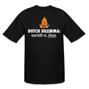 Dutch Dilemma (with white lettering for darker shirts) - Men's Tall T-Shirt