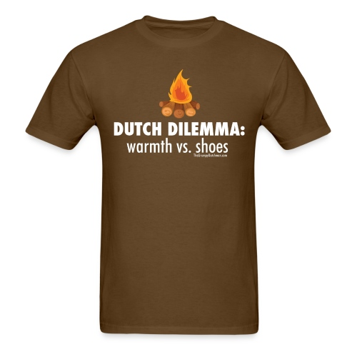 Dutch Dilemma (with white lettering for darker shirts) - Men's T-Shirt
