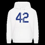 Hoodies ~ Men's Hoodie ~ Jackie Robinson 42 Hoodie Hooded Sweatshirt