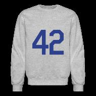 Long Sleeve Shirts ~ Men's Crewneck Sweatshirt ~ Jackie Robinson 42 Crewneck Sweatshirt
