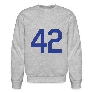 Jackie Robinson 42 Crewneck Sweatshirt - Crewneck Sweatshirt