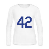 Long Sleeve Shirts ~ Women's Long Sleeve Jersey T-Shirt ~ Jackie Robinson 42 Girls Womens Long Sleeve Shirt