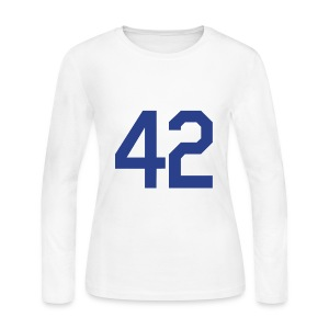 Jackie Robinson 42 Girls Womens Long Sleeve Shirt - Women's Long Sleeve Jersey T-Shirt