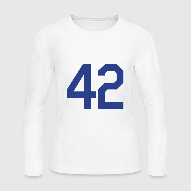 Jackie Robinson 42 Design Long Sleeve Shirts - Women's Long Sleeve Jersey T-Shirt