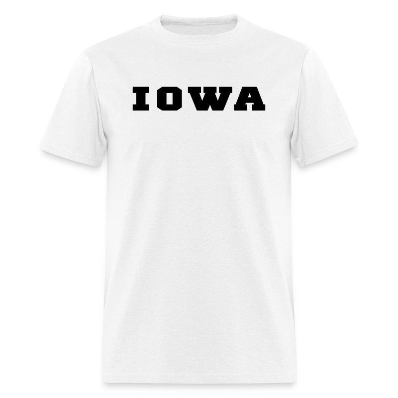Iowa college t shirt spreadshirt for University of iowa shirts