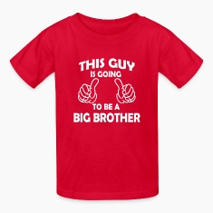 this guy is going to be a big brother  Kids' Shirts