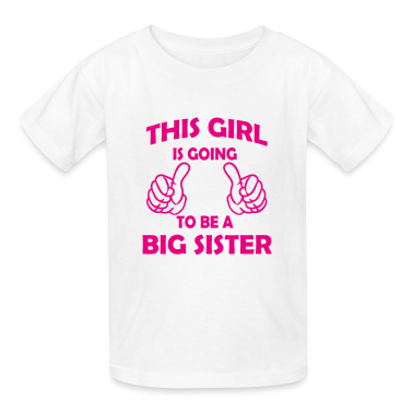 this girl is going to be a big sister Kids' Shirts