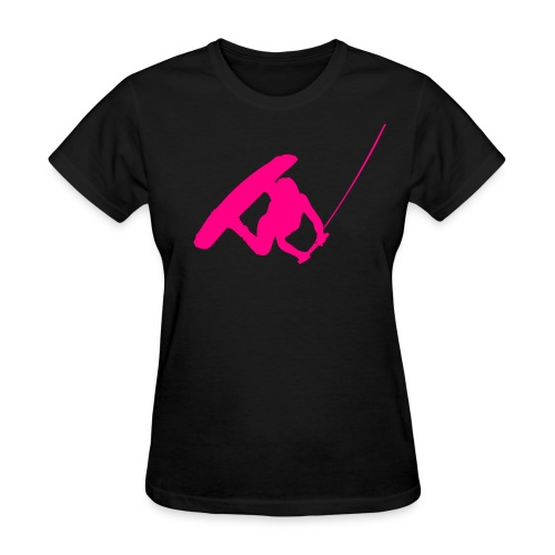 Wakeboarder Neon Pink - Women's T-Shirt