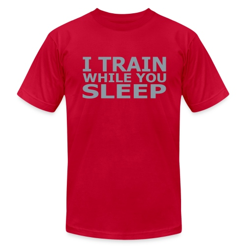 I Train While Tee-PINK - Men's Fine Jersey T-Shirt