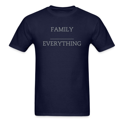 Family Over Everything Navy/Silver Tee - Men's T-Shirt