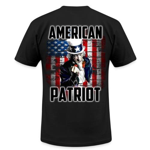 American Patriot Uncle Sam - Men's Fine Jersey T-Shirt