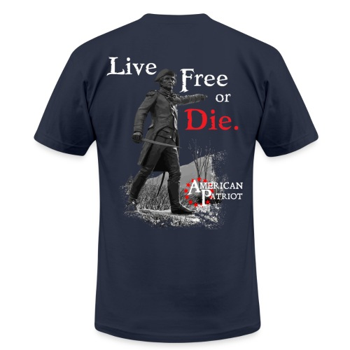 John Stark:  Live Free or Die - Men's Fine Jersey T-Shirt