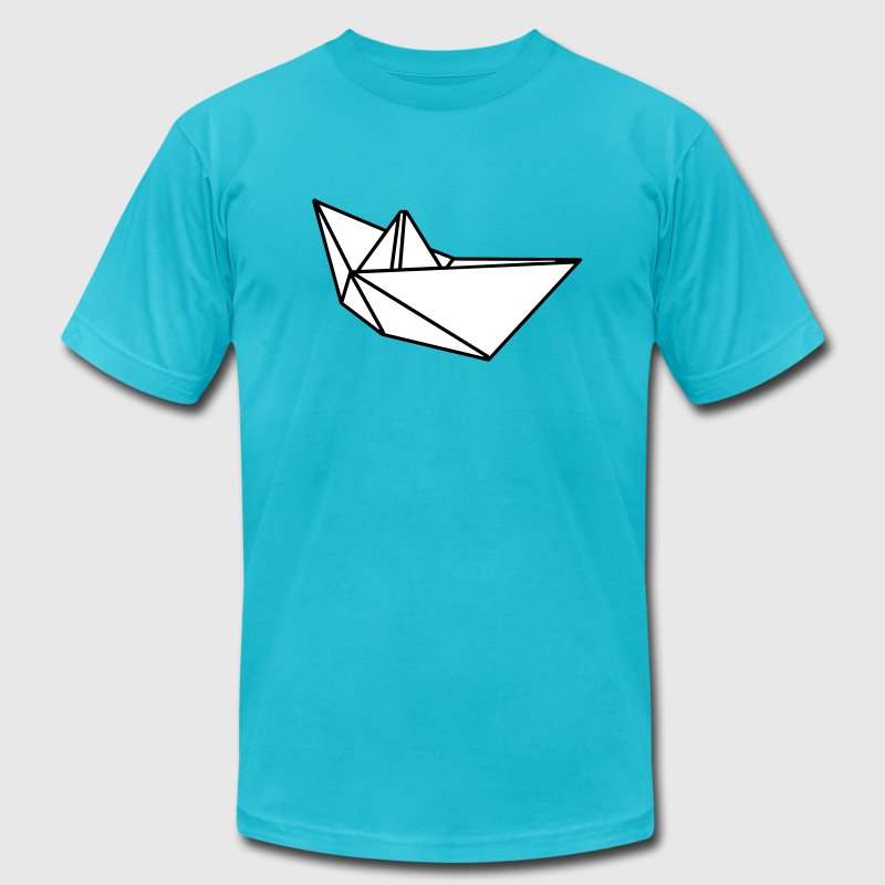 Origami paper ship boat T-Shirts - Men's T-Shirt by American Apparel