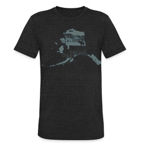 Alaska (Dark) - Heather - Unisex Tri-Blend T-Shirt by American Apparel