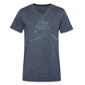 Alaska (Dark) - V-Neck - Men's V-Neck T-Shirt by Canvas