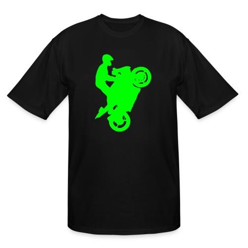 Streetbike Neon Green - Men's Tall T-Shirt