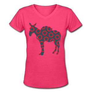 Scent of a Mule ( Fish print ) - V-Neck - Women's V-Neck T-Shirt