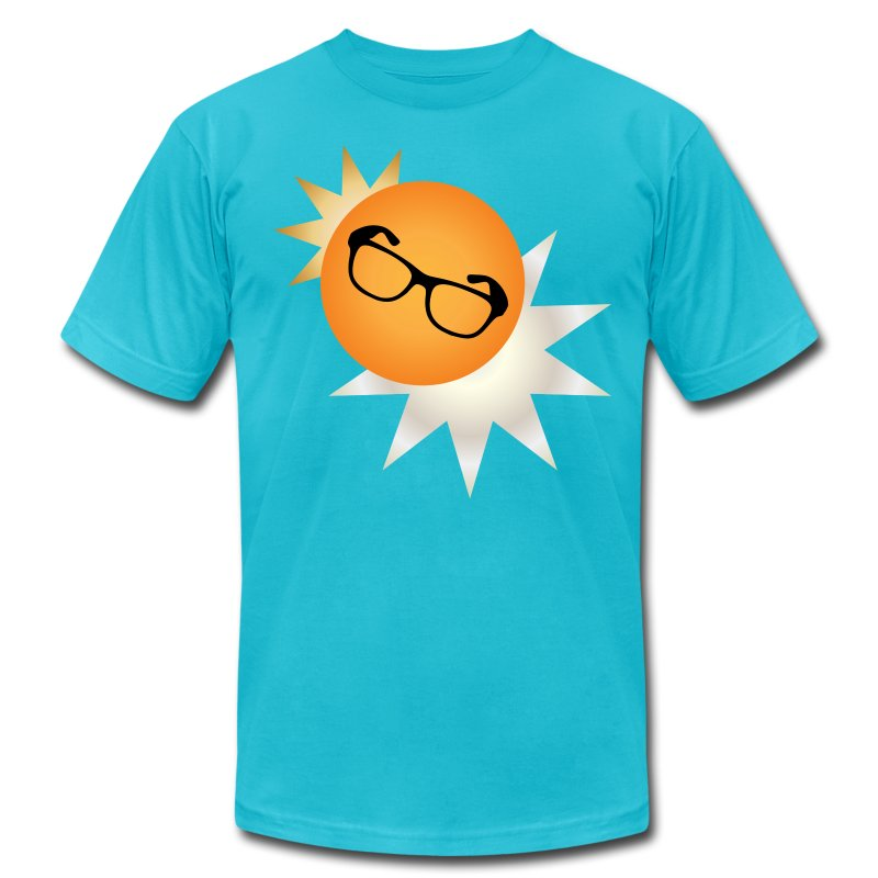 Mens - Sun Burst Logo - Men's T-Shirt by American Apparel