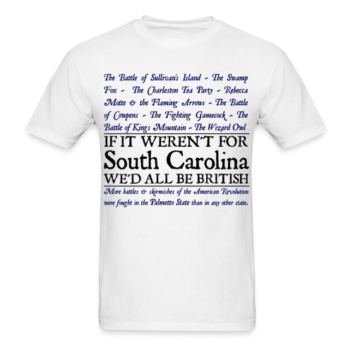 South Carolina Historical Battle Tee - Men's T-Shirt