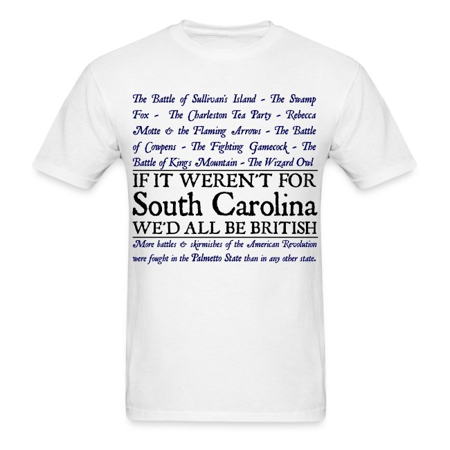 South Carolina Historical Battle Tee