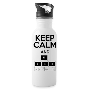 Keep Calm Game On - Water Bottle