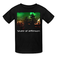 Kids' Shirts ~ Kids' T-Shirt ~ Kid's State of Jefferson (trees) T-Shirt