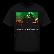 Kids' Shirts ~ Kids' T-Shirt ~ Kid's State of Jefferson (trees) T-Shirt