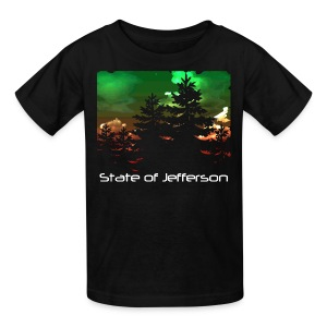 Kid's State of Jefferson (trees) T-Shirt - Kids' T-Shirt