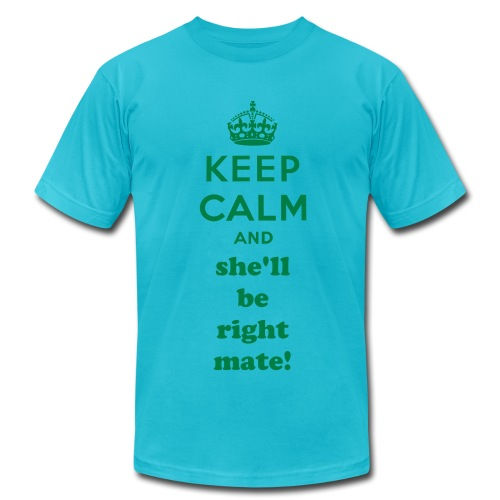 Keep Calm and She'll be Right Mate! - Men's Fine Jersey T-Shirt