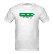 T-Shirts ~ Men's T-Shirt ~ Yoyle City Sign