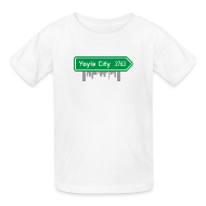 Kids' Shirts ~ Kids' T-Shirt ~ Yoyle City Sign