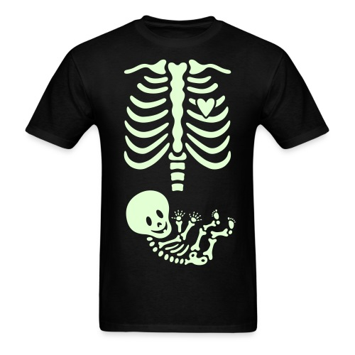Glow-in-the-dark Skeleton Maternity (Mens/Unisex Shirt) - Men's T-Shirt