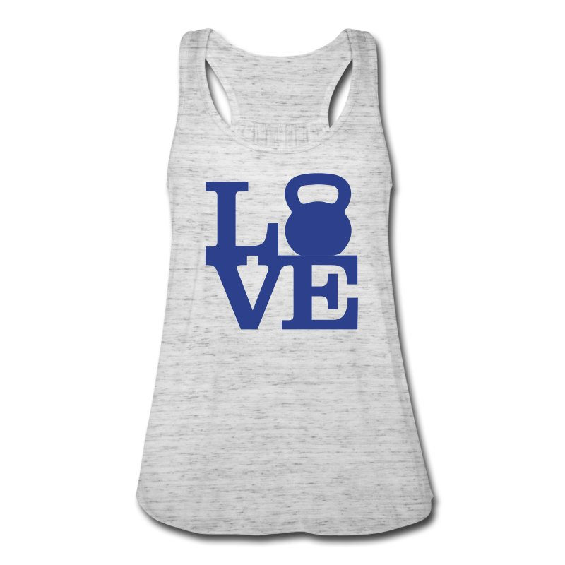 kettlebell love - Women's Flowy Tank Top by Bella