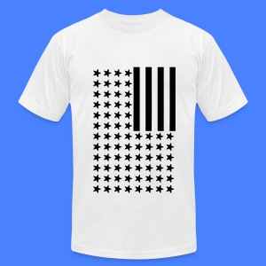 Inverted Flag T-Shirts - Men's T-Shirt by American Apparel