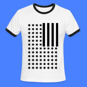 Inverted Flag T-Shirts - Men's Ringer T-Shirt